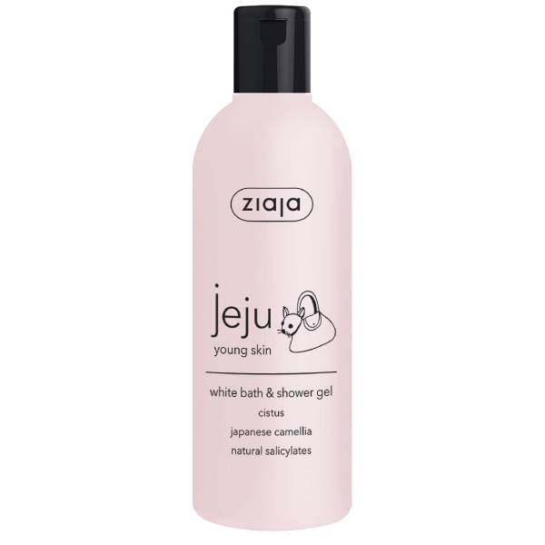 Jeju pink line white bath & shower gel 300ml
