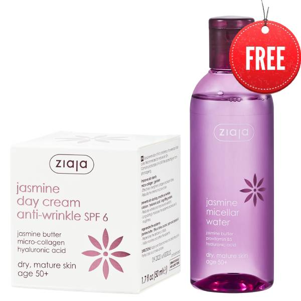 Jasmin day cream 50 ml+ micellar water 200ml δώρο