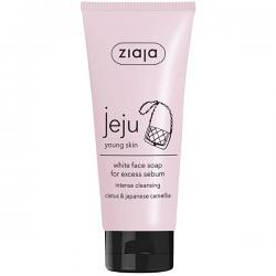 Jeju pink line white face soap 75ml